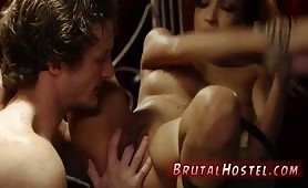 Brutal hard rough gangbang Poor lil' Jade