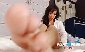 Flirt4Free Fetish Brooke Foxx - Ebony Babe Domination Latex and Foot Fetish