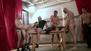 <p>German Amateur Basement Gangbang</p>
