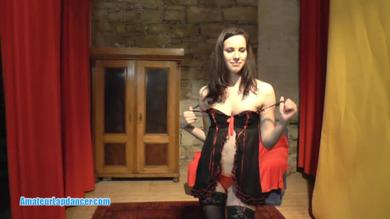 <p>Horny czech brunette strips on cam</p>