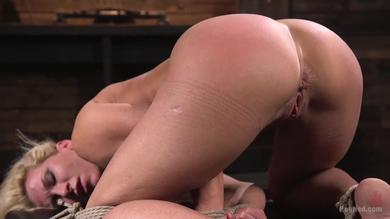 Squirting babe Ariel X gets hogtied and punished by The Pope