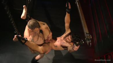 <p>Tattooed Homosexual Bisexual BDSM sex tries</p>