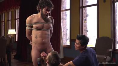 Bound hairy stud Dale Cooper Can Not Manage two of them