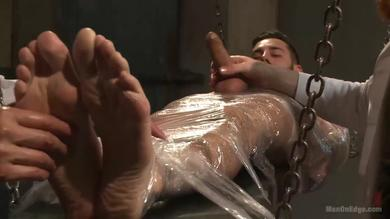 <p>Slave slut Dean Brody wrapped up Having a strong penis in bondage Movie</p>