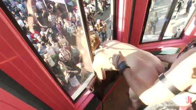 <p>Twink Noah Brooks hardcore BDSM rear and face sexing in public</p>