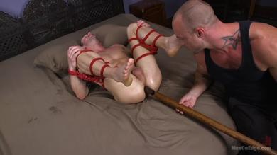 <p>Love being teased in BDSM straight stud Jason Styles</p>