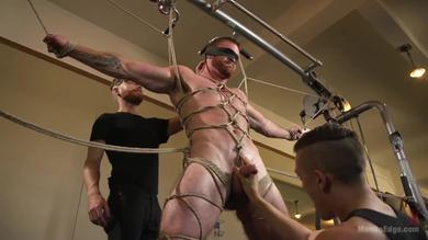 <p>Twice was manhandled by ginger muscle Man Scott Ambrose in BDSM</p>