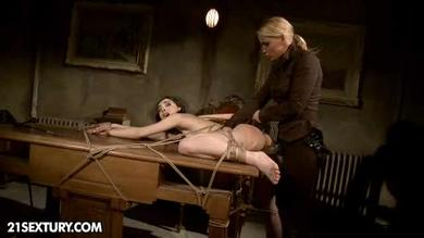 Dirty mistress humiliates a needy slave