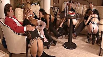 Hot luxurious orgy party