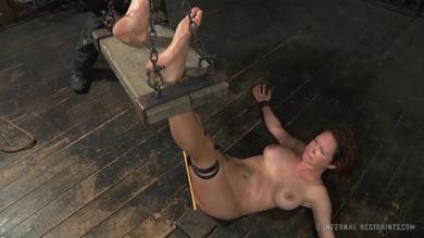<p>Fingered and toyed tied babe</p>