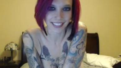 <p>Horny Ink Adoring big titty emo slut showing her boobs on webcam</p>