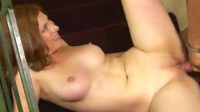 <p>Mature cougar Ginger Blaze screwing at a mansion </p>