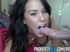 <p>PropertySex - Landlord makes sex Movie with hot Renter</p>