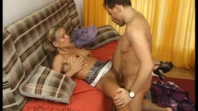 Hot double penetration scene