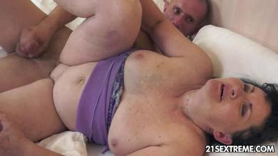 Fat step mother fucked by her son