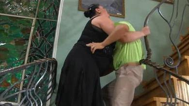 Fat mum is fucked by her new younger fucker