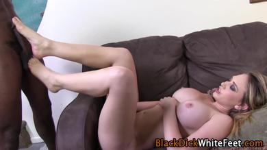 Using her feet to masturbate