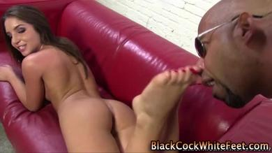 Black guy's fetish is footjob