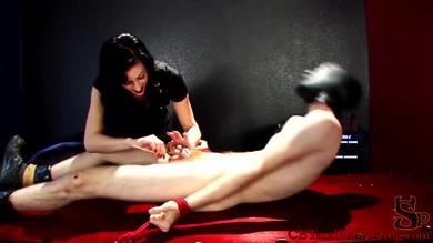 Nyxon is enjoying in a femdom game