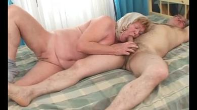 Chubby granny is fucked in her pussy