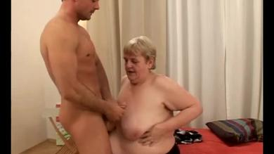 Huge titted granny is fucked hard