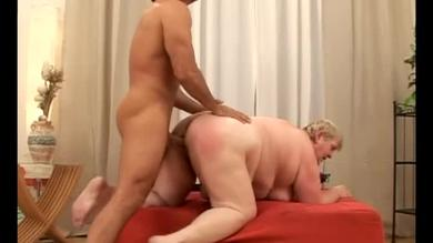 Fat granny fucked in doggy style