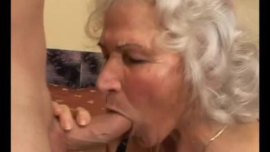Moist granny cock sucking galore