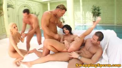 <p>Group sex with a couple of Sexy</p>