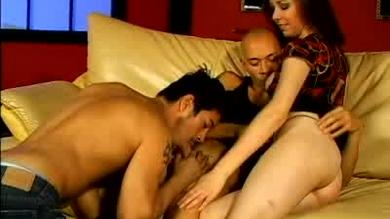 <p>Anne Parker at a bisexual MMF</p>