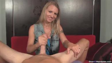 <p>40 blondie gives the handjob</p>