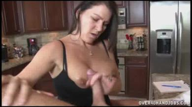 <p>Busty brunette milf Sadie Micheals Provides a handjob</p>