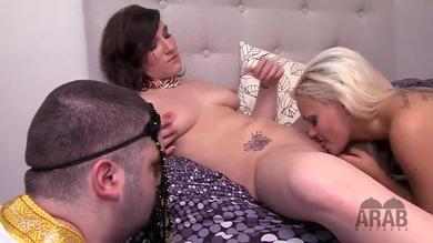 <p>Arab Mistress - Blonde and brunette</p>  Share ended dildo