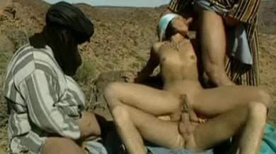 Sexy+round+ass+Arab+babe+getting+fucked+DP+by+three+horny+men+in+the+Desert