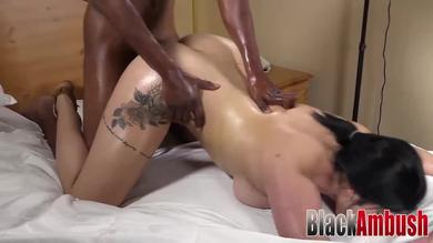 <p>Big booty curvy Arab Adrianna gets penetrated by huge ebony member</p>
