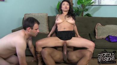 Interracial cuckolding with a lot of humiliation