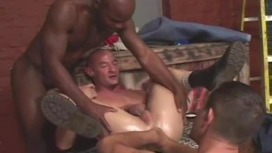 Fisting Central presents a gay interracial group sex party