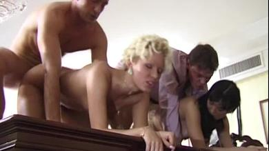 Two horny Vintage sluts getting getting ass fucked and Dped in groupsex