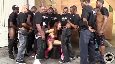 Penny Pax and ten dirty black dudes