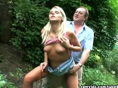 <p>Old Fart Fucks Blonde Teen In The Park</p>