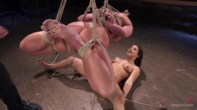 Phoenix Marie and Helpless slave Women Abella Danger in Hogtied 3some
