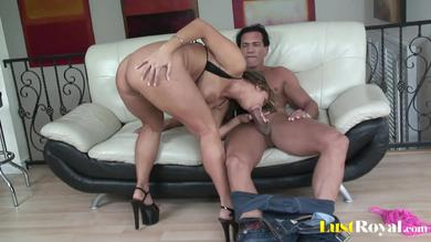 <p>Lust Royal - Busty slut goes booty to mouth</p>