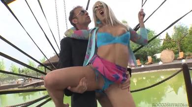 <p>Babe swallows some member</p>