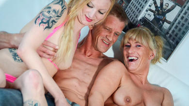 <p>Naughty FFM threeway with swingers that are German</p>