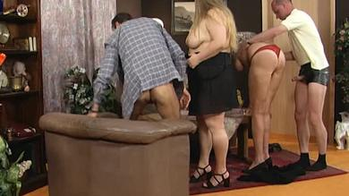 <p>German BBW along with a hoe in swinger party</p>