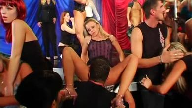 <p>Swinging Pornstars: member swallowing and humping in this nightclub orgy</p>