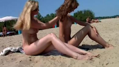 <p>Blonde Teenagers Get Naked On The Lakefront Beach</p>