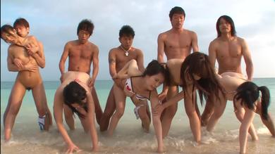 Horny+busty+and+hairy+Japanese+hardcore+orgy+fuck+on+the+beach